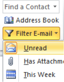how to set up unread folder in outlook